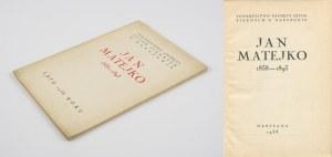 MATEJKO Jan - Katalog wystawy [1938]