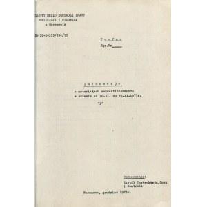 [cenzura PRL - Herbert] Informacja o materiałach zakwestionowanych w okresie od 16.XI. do 30.XI.1973 r. [Główny Urząd Kontroli Prasy, Publikacji i Widowisk w Warszawie]