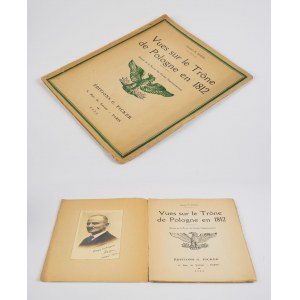 KUKIEL Marian - Vues sur le Trone de Pologne en 1812 [Paryż 1932] [WKLEJONA ORYGINALNA FOTOGRAFIA AUTORA Z DEDYKACJĄ]
