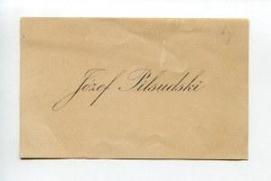 Karta wizytowa Józefa Piłsudskiego (1867-1935)