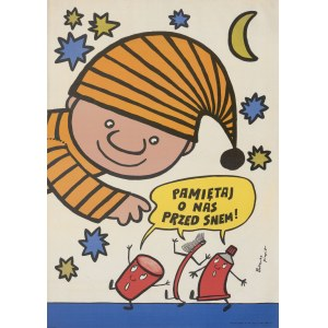 plakat BUTENKO Bohdan - Pamiętaj o nas przed snem! [ok. 1977]