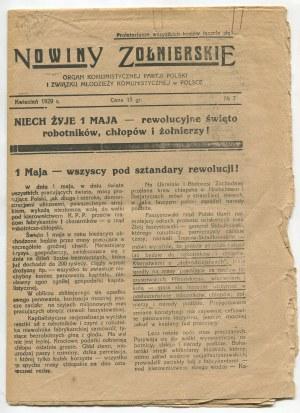 Nowiny żołnierskie. Nr 7 z 1929 roku [Organ Komunistycznej Partii Polski i Związku Młodzieży Komunistycznej w Polsce]