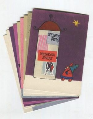 BUTENKO Bohdan - Zestaw 9 pocztówek świątecznych. Boże Narodzenie [1964]