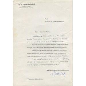 Zestaw listów do pisarki Seweryny Szmaglewskiej z 1986 r. [odręczne podpisy W. Jaruzelskiego, H. Jabłońskiego, Z. Messnera, B. Suchodolskiego i in.]