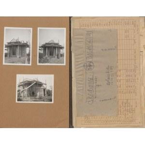 STRYJEŃSKI Tadeusz - Plany, kosztorys i inne dokumenty dot. budowy kaplicy grobowej Dolańskich h. Korab w Baranowie Sandomierskim [1931]