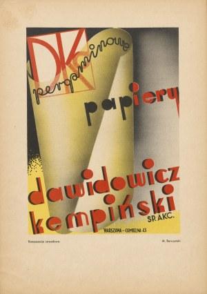 reklama BARCZYŃSKI M. - Pergaminowe papiery. Dawidowicz - Kempiński [1933]