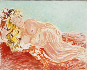Krystyna Krępa, Akt ze złotymi włosami, 1998