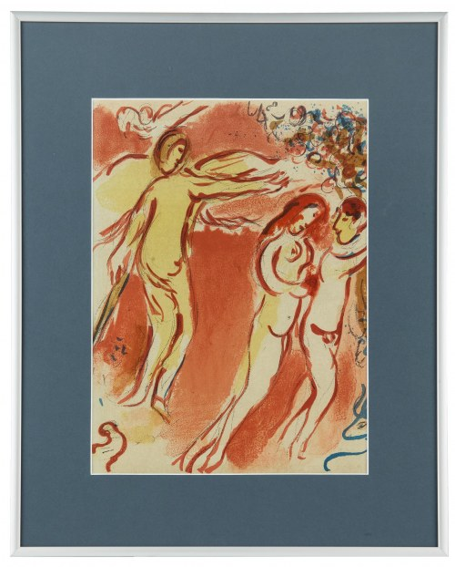 Marc Chagall, Adam i Ewa wygnani z Raju
