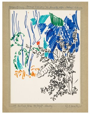 Antoni Kawałko, Motive from the jungle, 1967