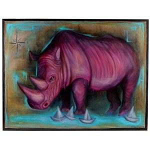 Anita Dąbrowska, Believe in pink rhino, 2019