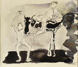 Otto AXER (1906-1983), Kompozycja, 1976