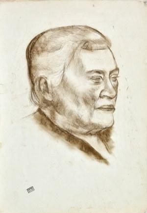Otto AXER (1906-1983), Głowa mężczyzny ukazana z prawego profilu