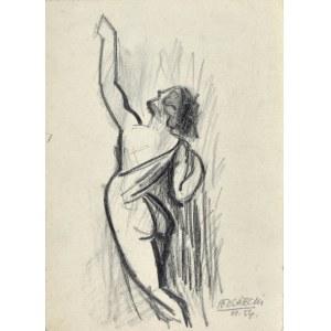 Kazimierz PODSADECKI (1904-1970), Akt tyłem z uniesioną ręką, 1954