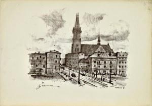 Antoni SUCHANEK (1901-1982), Nowe Miasto - dawny ratusz z r. 1827, 1948
