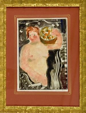 Karol KOWALSKI (Mieczysław Szarle) (1906–1967), Akt kobiety z koszem owoców, 1928