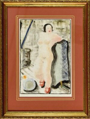 Karol KOWALSKI (Mieczysław Szarle) (1906–1967), Akt kobiety w czerwonych butach, 2 ćw. XX w.