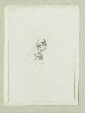 Witold PRUSZKOWSKI (1846-1896), Popiersie męskie, ok. 1872
