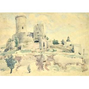 Józef PIENIĄŻEK (1888-1953), Pejzaż z zamkiem