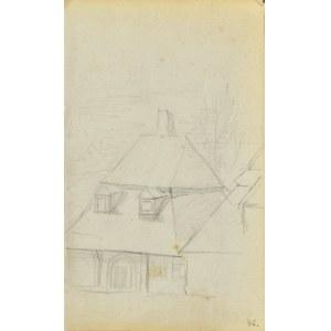 Jacek MALCZEWSKI (1854-1929), Dom z wysokim łamanym dachem i podcieniem