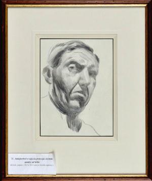 Stanisław KAMOCKI (1875-1944), Autoportret w ujęciu prawego en trois quatre od dołu