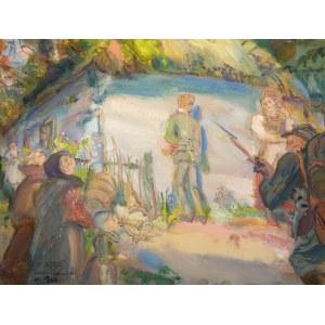 Kasper POCHWALSKI (1899-1971), Posądzony - wrzesień 1939 z cyklu Exodus, 1964