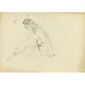 Kasper POCHWALSKI (1899-1971), Akt siedzącej kobiety