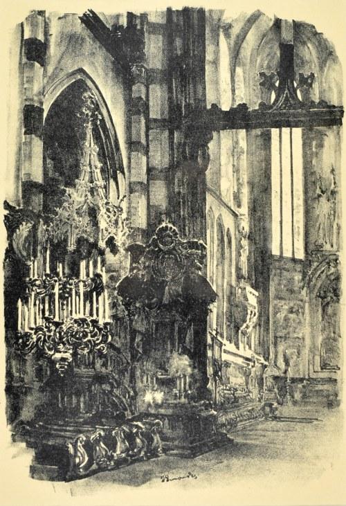 Jan Kanty GUMOWSKI (1883-1946), Wnętrze kościoła Mariackiego, 1926