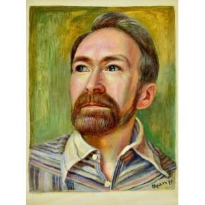 Zdzisław (CYAN) CYANKIEWICZ (1912-1981), Portret mężczyzny (autoportret?), 1977