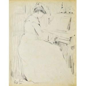 Eugeniusz ZAK (1887-1926), Kobieta przy pianinie