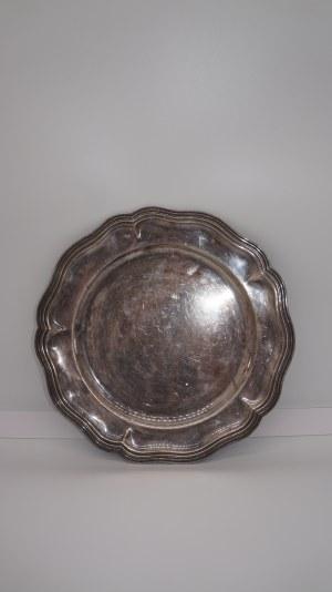 talerz srebrzony, Francja 35 cm