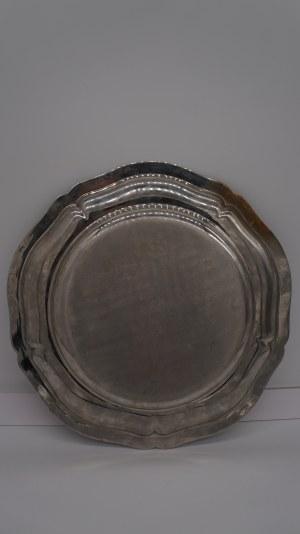 talerz srebrzony, Francja 33,5 cm