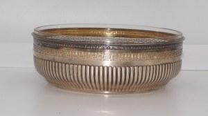 owocarka szklana w srebrnym koszyku 158 g