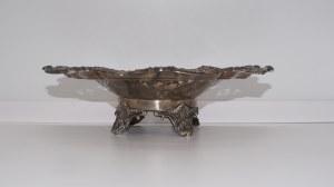 patera na nóżkach, srebro, Anglia 658 g