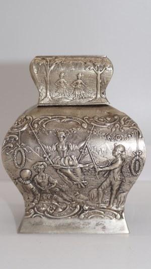 herbatnica srebrzona w stylu francuskim