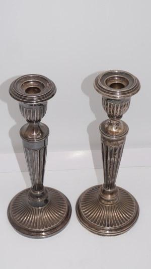 para świeczników noeklasycystycznych, srebro 620g, Szwajcaria