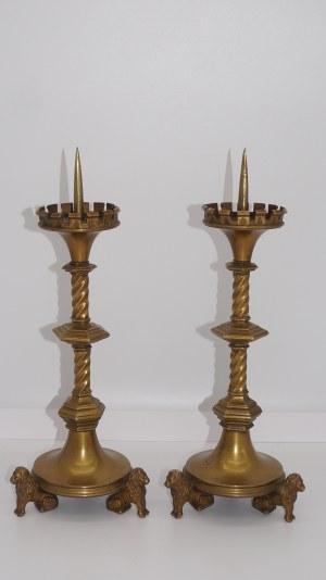 para świeczników neogotyckich