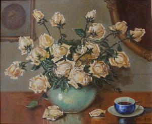 Zygmunt Kaczówka (1915-1996), Róże w wazonie