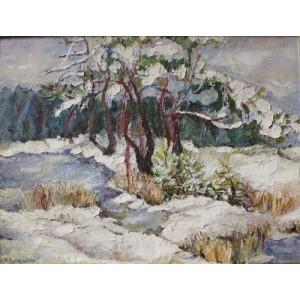 Alfred Swieykowski (1869-1953), Zimowy pejzaż