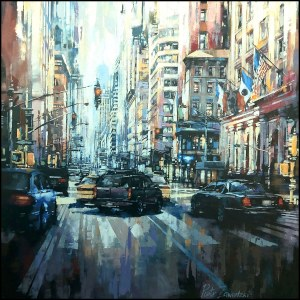 Piotr Zawadzki (ur. 1971), Metropolis. New York Summer, 2021