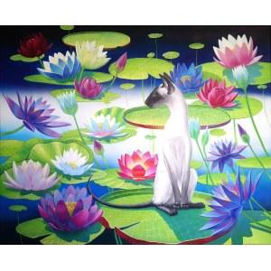 Svitlana Ulka (ur. 1987), Kot orientalny nad jeziorem, 2020