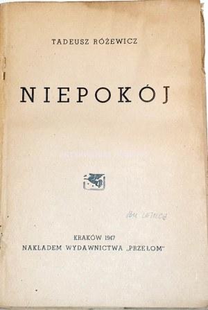 RÓŻEWICZ- NIEPOKÓJ wyd.1947 debiut