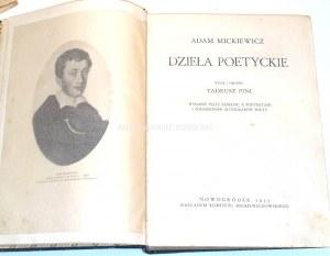 MICKIEWICZ- DZIEŁA POETYCKIE  wyd. Nowogródek 1933r. [red. Pini]