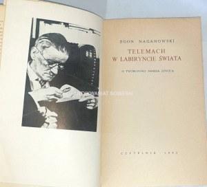 NAGANOWSKI- TELEMACH W LABIRYNCIE ŚWIATA wyd. 1. O twórczości Jamesa Joyce' a