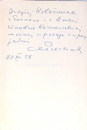 PIECHAL- WIERSZE wyd. 1. Dedykacja Autora dla Wandy Karczewskiej.