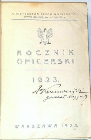 ROCZNIK OFICERSKI 1923