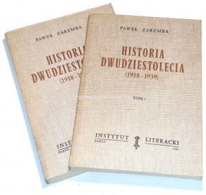 ZAREMBA - HISTORIA DWUDZIESTOLECIA tom 1-2