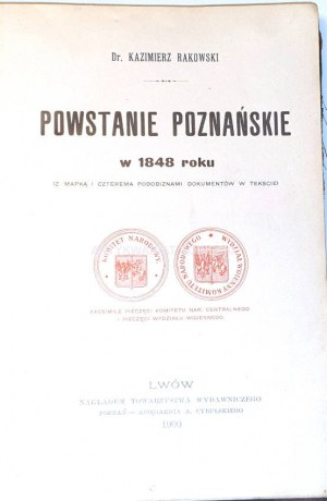 RAKOWSKI - POWSTANIE POZNAŃSKIE 1900r.