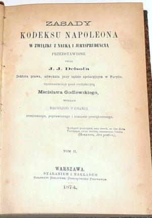 DELSOL- ZASADY KODEKSU NAPOLEONA t. II wyd. 1874