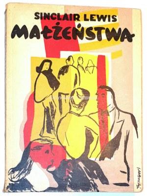 LEWIS - MAŁŻEŃSTWA. Okładka Janusz Maria Brzeski