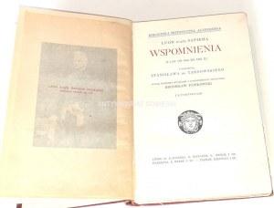 SAPIEHA- WSPOMNIENIA Z LAT OD 1803 DO 1863